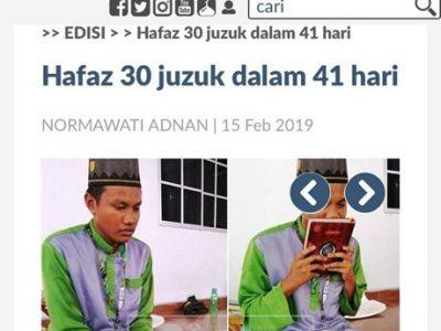 Hafaz 30 Juzuk Dalam 41 Hari